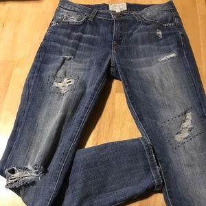 Current/ Elliot Destroyed Jeans Size 24